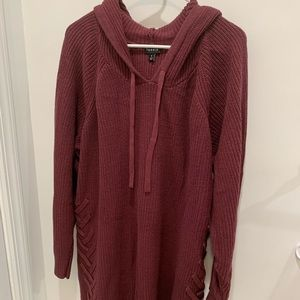 Torrid NWOT Knit Lace up Sweater Hoodie